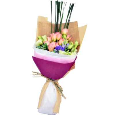 Valentines Day Special  One Dozen Roses Bouquet