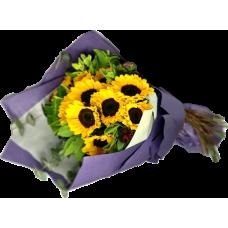 Sunshine Day  10pcs Sun Flowers Bouquet