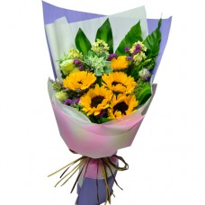 5pcs Sun Flowers Bouquet