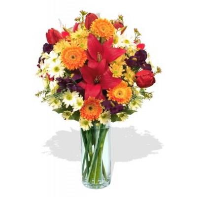 Mixed Flowers Vase Bouquet