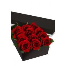 12 x Long Stem Premium Rose Presentation Box