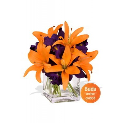 Iris and Lily Bouquet Vase Bouquet